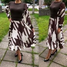 Stiilne kleit pruun